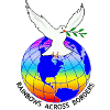 Rainbows Across Borders logo with globe and dove